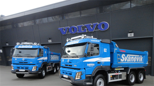 To Volvo FMX til Svanevik Transport & Utleie AS